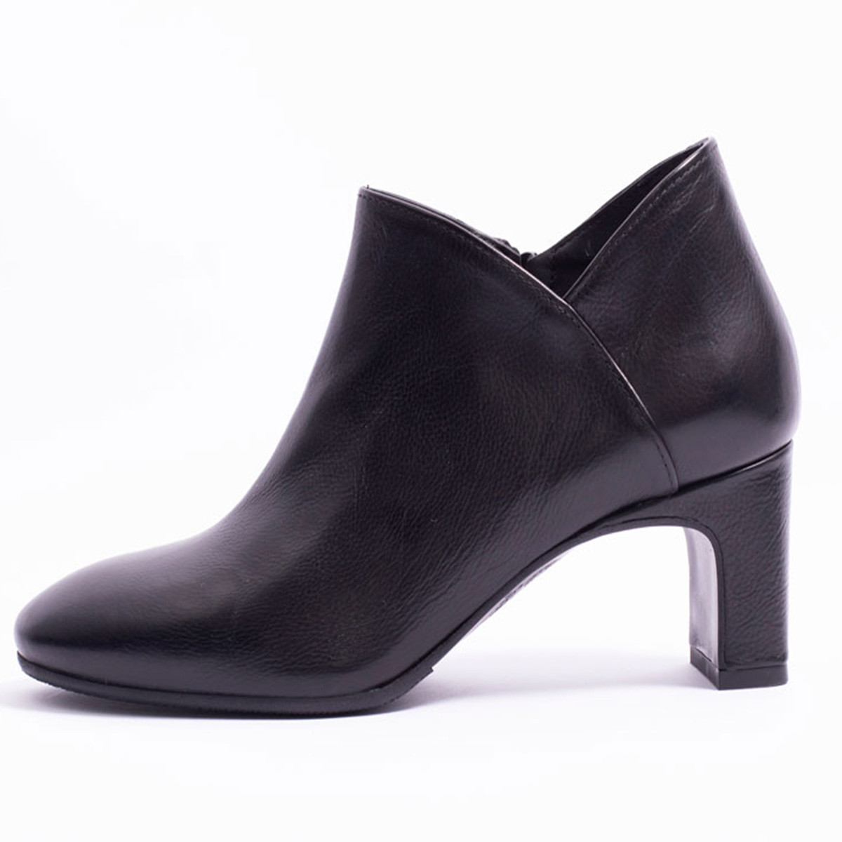 Mi-Boots cuir noir