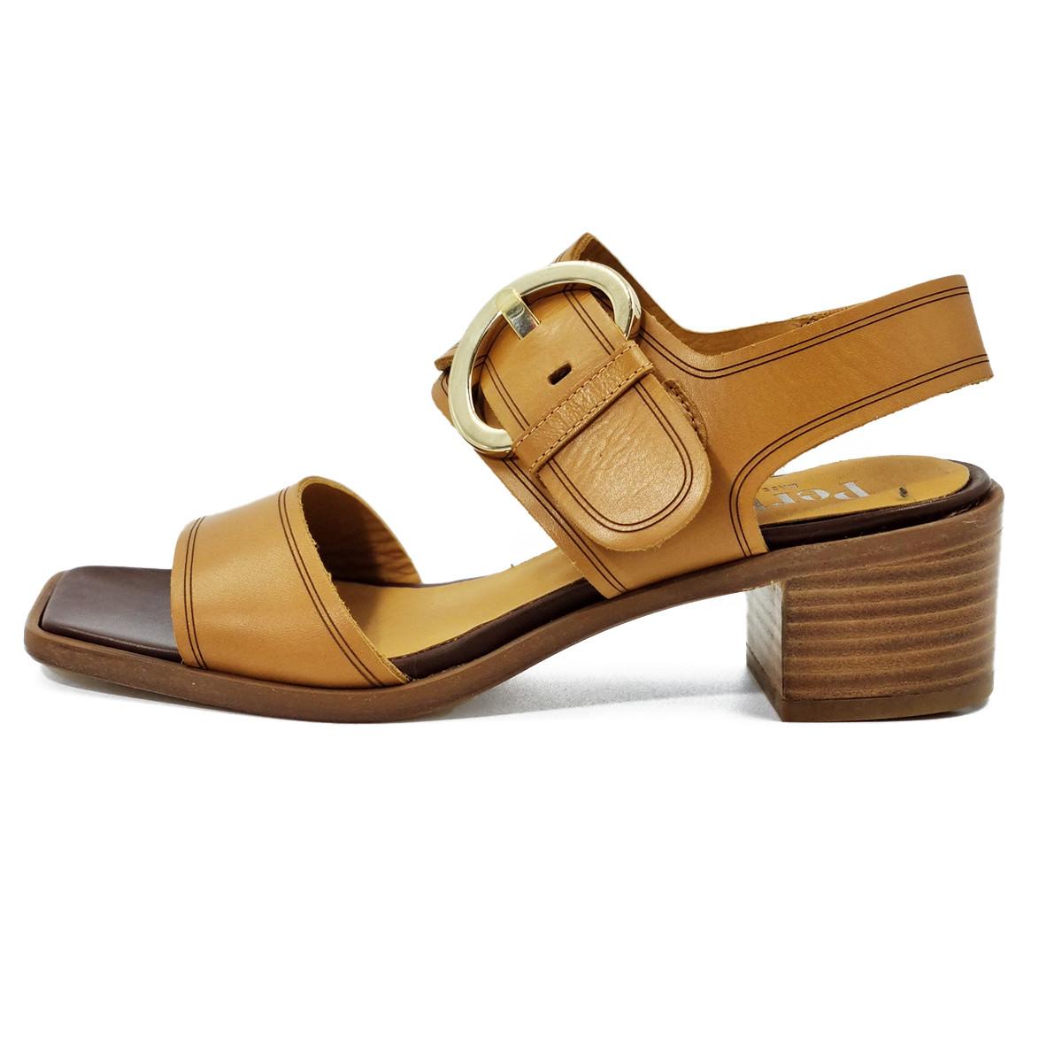 Sandale talon sable